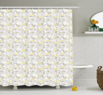 Abstract Lobed Leaves Shower Curtain