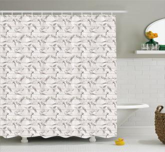 Red-Rumped Swallow Bird Shower Curtain