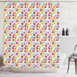 Winking Long-Eared Owl Shower Curtain