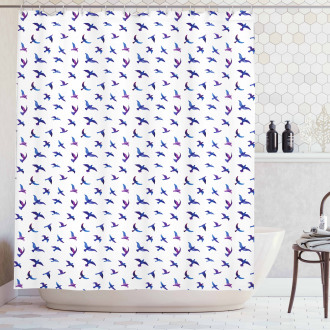 Flying Pigeons and Doves Shower Curtain