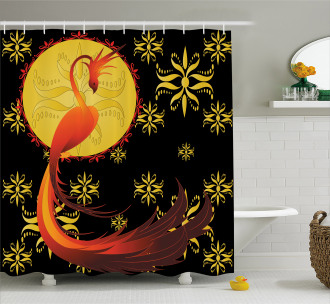 Phoenix and Foolmoon Shower Curtain