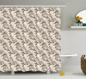 Ruby-Throated Hummingbird Shower Curtain