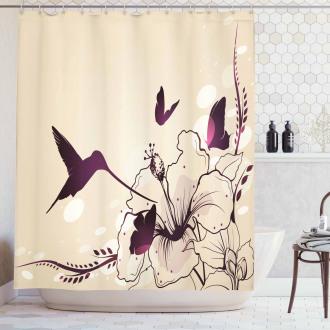 Flappy Tiny Hummingbirds Shower Curtain
