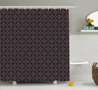 Abstract Baroque Shower Curtain