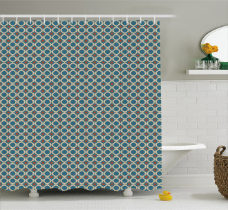 Round Shapes Squares Shower Curtain