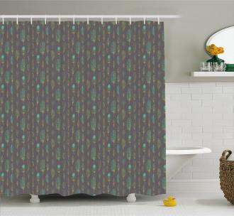 Boho Ethnic Sketch Art Shower Curtain