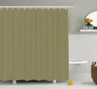Simple Rhombus Cells Tile Shower Curtain