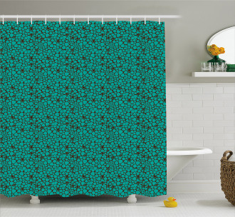 Abstract Tile Shower Curtain
