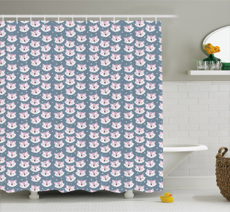 Sleeping Fox Sky Stars Shower Curtain