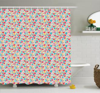 Happiness Joy Theme Shower Curtain