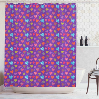 Colorful Romantic Pattern Shower Curtain