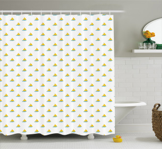 Modern Design Boats Shower Curtain