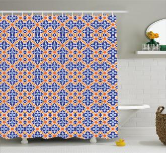 Moroccan Stars Design Shower Curtain