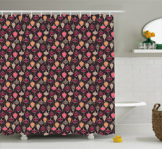 Balls and Baubles Shower Curtain