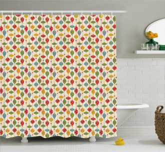 Vintage Party Print Shower Curtain