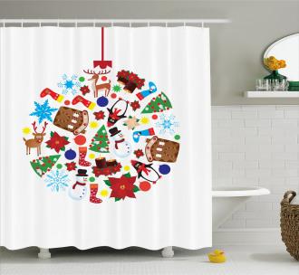 Traditional Noel Joy Shower Curtain