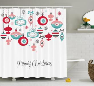 Noel Season Elements Shower Curtain