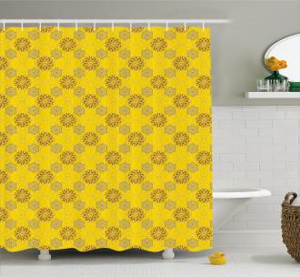 Swirly Flowers Shower Curtain
