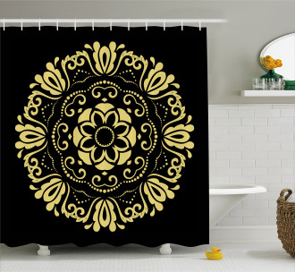 Stylized Frame Shower Curtain