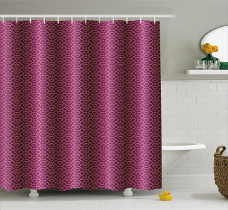 Zigzag and Hearts Shower Curtain