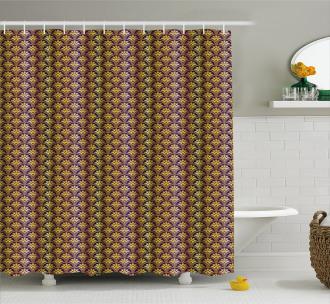Peacock Motif Shower Curtain