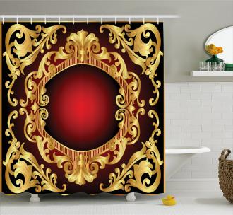 Frame Baroque Shower Curtain