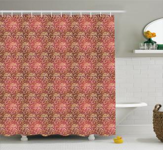 Swirly Oriental Shower Curtain