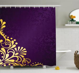 Curvy Ornament Shower Curtain