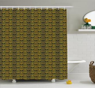 Wavy Floral Leaf Shower Curtain