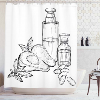 Natural Tropical Fruit Shower Curtain