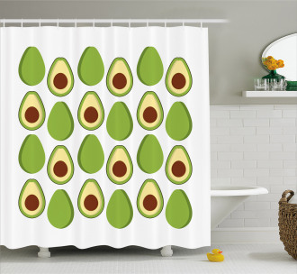 Colorful Organic Food Shower Curtain
