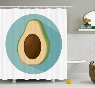 Raw Delicious Avocado Shower Curtain