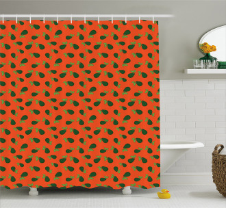 Comic Style Avocados Shower Curtain