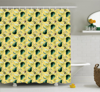 Watercolor Summer Food Shower Curtain
