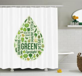 Inspirational Image Shower Curtain
