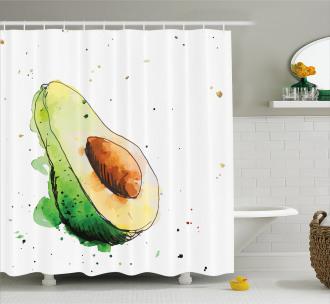 Simplistic Doodle Art Shower Curtain