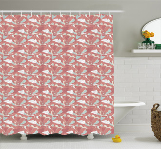 Blooming Poppies Shower Curtain