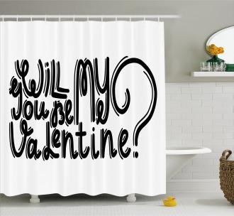 Romantic Love Message Shower Curtain