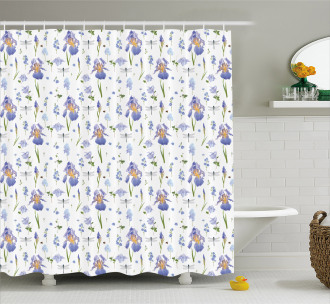 Dragonfly Romance Nature Shower Curtain
