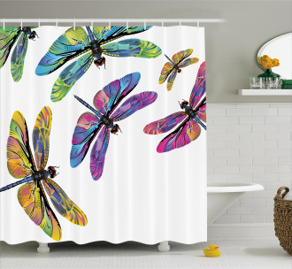 Sixties Style Animals Shower Curtain