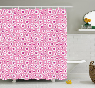 Petals with Bugs Shower Curtain