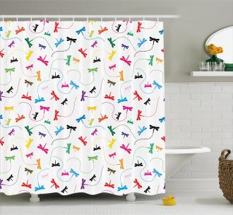 Spring Wildlife Motif Shower Curtain
