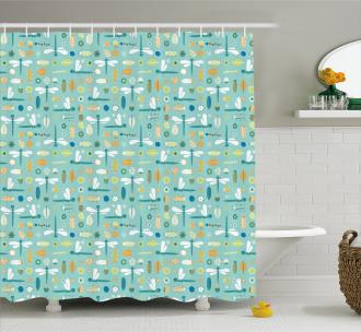 Nursery Style Cartoon Shower Curtain