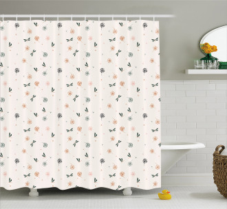 Bugs and Dandelions Shower Curtain