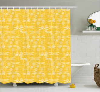 Insect Outline Shower Curtain