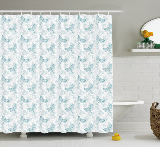 Parsley Leaves Bugs Shower Curtain