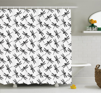 Sketch Wings Shower Curtain