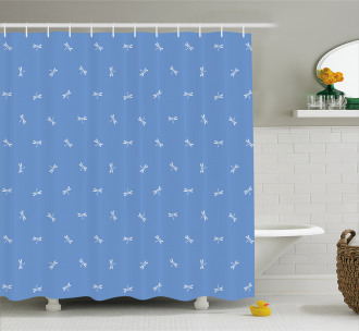 Oriental Dragonfly Shower Curtain