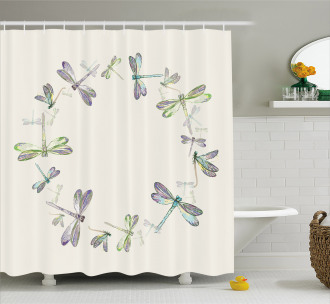 Forest Animals Circle Shower Curtain