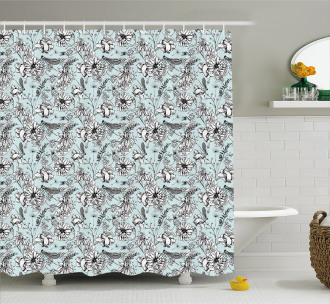 Bugs and Daises Shower Curtain